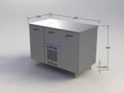 Külmtöölaud RESTMEC pagariplaatidele 2 uksega, HIND: 800eur+km