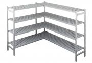 Alumiiniumriiulikomplekt külmkambrile 4,41 m3