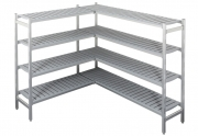 Alumiiniumriiulikomplekt külmkambrile 3,7 m3