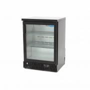 Klaasuksega külmik MAXIMA 125 L must