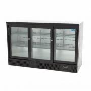 Klaasuksega külmik MAXIMA 350 L must