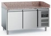 Pizzakülmtöölaud CS-EF 2 uksega, ratastel