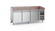 Pizzakülmtöölaud CS-EF 3 uksega, ratastel